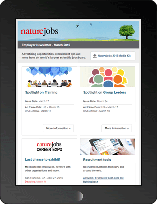Naturejobs Employer Newsletter