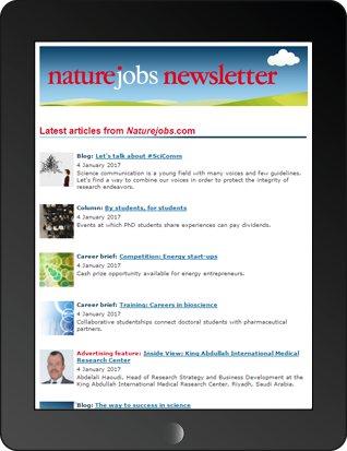 Naturejobs Jobseeker Newsletter